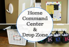 Home command center and drop zone