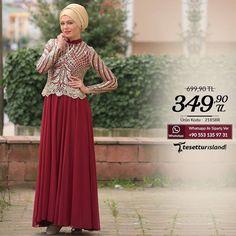 Tesettürlü Abiye Elbise Sipariş Vermek İçin Whatsapp: 90 507 651 3656 Beden: 38-40-42-44-46-48 Ürün kodu: 2185BR http://ift.tt/1t9jj4V  #hijab #fashion #tesetturgiyim #tesetturisland #tesetturmodası by tesetturisland