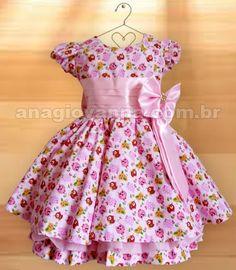 Vestido Infantil Festa Passarinhos Rosinha