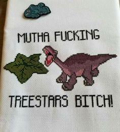 46 Hilarious Sh*tposts Just How You Like 'Em - 46 Hilarious Sh*tposts Just How You Like 'Em – Cheezburger – Funny Memes Cross Stitching, Cross Stitch Embroidery, Embroidery Patterns, Hand Embroidery, Cross Stitch Kits, Cross Stitch Designs, Cross Stitch Quotes, Funny Cross Stitch Patterns, Crochet Cross