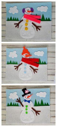 Fun snowman crafts - Snowman Felt Board by Amanda Formaro http://CraftsbyAmanda.com