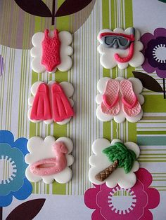 Sugar Fondant Cupcake Toppers  SUMMER SPLASH  by SUGARdevotion, $19.95