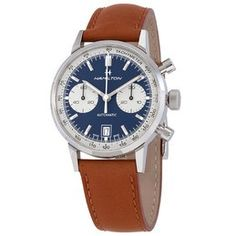 Hamilton Men's Khaki X Wind Automatic Chronograph Men's Watch H77616533 H77616533 - Watches, Hamilton - Jomashop Sport Watches, Cool Watches, Watches For Men, Hamilton, Zeppelin Watch, Breitling Watches, Brown Band, Automatic Watch, Stainless Steel Case