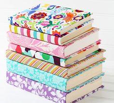 como forrar libros y libretas con tela