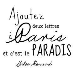 Sticker mural Paris-Paradis noir   50 x 60 cm