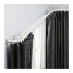 HUGAD Curtain rod set for bay window IKEA The corners can be adjusted to fit different angles of your bay window.