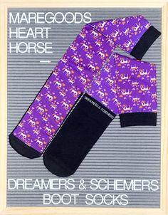 Mare Goods Heart Horse Riding Boot Socks... #Socks #Equestrian #EquestrianSocks #DreamersnSchemers #RidingBootSocks
