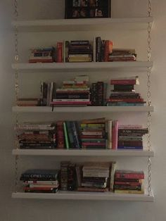 diy back to school diy hanging bookshelf proyectos que