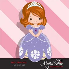 Free Princess Sophia Clipart Cute character dressed up as a princess. Use this to make cards, printables or stickers. Freebies saved on transparent background. My Princess, Disney Princess, Cup Art, Scrapbook Stickers, Cute Characters, Princesas Disney, Digital Stamps, Chibi, Boy Or Girl