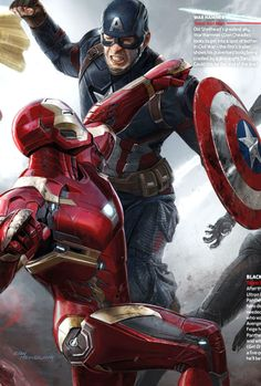 Captain America Civil War Concept Art - Ryan Meinerding & Andy Park