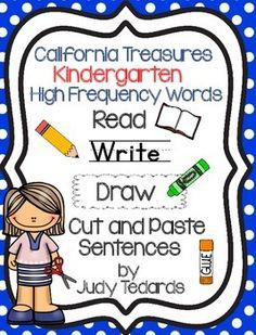 california treasures kindergarten activity