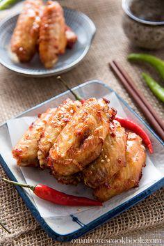 Chinese Baked Hot Wings   omnivorescookbook.com