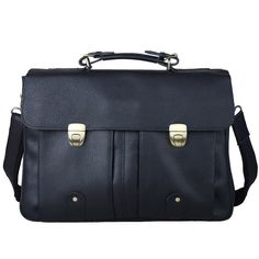 Men's Genuine Soft Leather 15'' Notebook Briefcases Shoulder Bags Business Bag