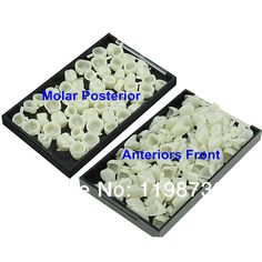 2 Boxes Dental Materials Mixed Temporary Crown Anteriors Front & Molar Posterior Nature Color Teeth Dentist Products