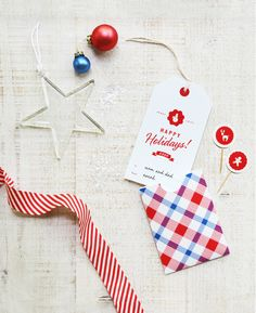 Printable holiday greet tag + pocket envelope