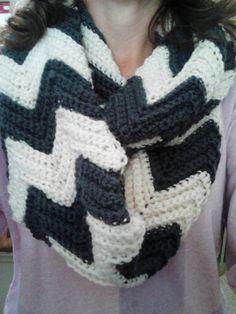 Infinity crochet scarf.