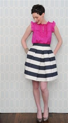 flynn skirt nautical - StyleSays