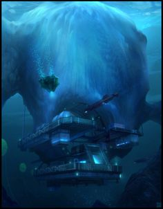 Iceberg Submarine Base by Hideyoshi on DeviantArt