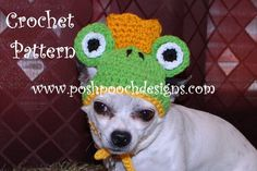 Instant Download Crochet Pattern Dog Frog by poshpoochdesigns