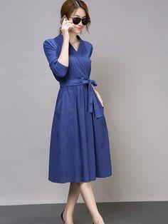 Doresuwe.com SUPPLIES 秋ファッション レトロ気質 長袖 麻綿 ワンピース 新作ドレス