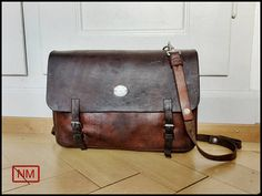 Vintage Swiss Army Leather Backpack Leather Rucksack for