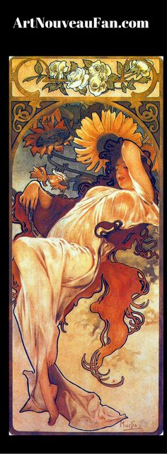 Alphonse Seasons summer. Other than his earlier Art Nouveau posters, this is perhaps his most famous work.