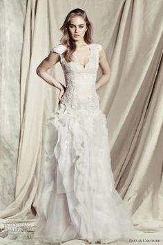 Pallas Couture Temperament Bride Wedding Dresses 2013 8