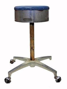 Vintage Industrial Swivel Stool