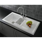 Found it at Wayfair.co.uk - 101cm x 52.5cm 1 1/2 Inset Kitchen Sink with Elbe Tap and Waste