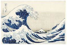 Hokusai Wave print