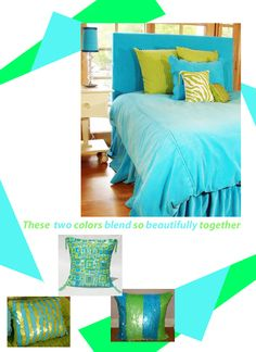 Lime Green and Turquoise Teen Girl Bedrooms   | Sweet and Sour Kids Blog