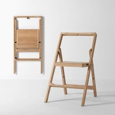 Step Step Ladder by Design House Stockholm Folding Furniture, Cheap Folding Chairs, Space Saving Furniture, Pallet Furniture, Cool Furniture, Furniture Design, Homemade Furniture, Outdoor Furniture, Farmhouse Furniture