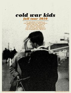 Great and beautiful #gigposter for the Cold War Kids by Third Alert Designs.