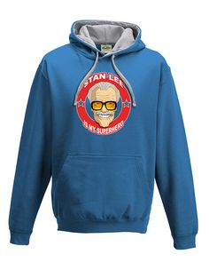 awesome STAN LEE IS MY SUPERHERO- Cool Comic Style Men's hoodie / hooded top From FatCuckoo