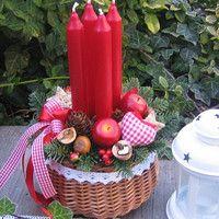 Jídlo a floristika / Zboží   Fler.cz Christmas Advent Wreath, Advent Wreaths, Centerpieces, Table Decorations, Flower Arrangements, Flowers, Home Decor, Xmas, Noel