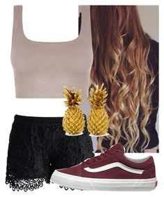 """""""Untitled #8749"""" by carmellahowyoudoin ❤ liked on Polyvore featuring Chicwish and Vans"""