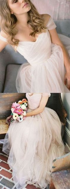 Simple Prom Dresses,A-Line Prom Dress,Tulle Prom Dresses,Formal Gown,V-neck Prom Dress,Cheap Prom Dress,Sweetheart Prom Dress,PD00405