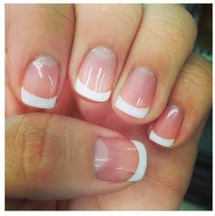 Nails french 47 Beautiful Colorful French Manicure For Amazing Nail Ideas Encontre este Pin e muitos outros na pasta Nail Art Design de Nail Art. French Manicure Gel, Natural Manicure, Manicure And Pedicure, Pedicures, Manicure Ideas, Cute Nails, My Nails, Short Gel Nails, Make Up