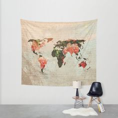 Wall tapestry banner wall art wall hanging home goods vintage world map wall tapestry by mjdesigns society6 gumiabroncs Image collections