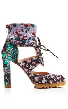 Roush Diaz Electra Booties by Mary Katrantzou for Preorder on Moda Operandi