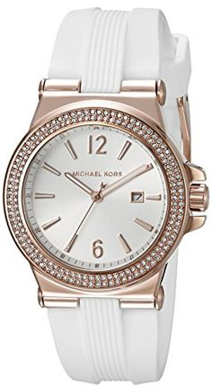 Michael Kors Watches Collection 2018 / 2019 : Michael Kors Womens Mini Dylan White Watch *** Visit the image link more . - Watches Topia - Watches: Best Lists, Trends & the Latest Styles Micheal Kors Watch Women, Michael Kors Watch, Michael Kors Jewelry, Handbags Michael Kors, Fossil Watches, Analog Watches, Hand Watch, Fashion Watches, Women's Fashion
