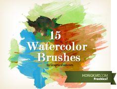 [Freebie] 15 Photoshop Watercolor Brushes
