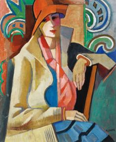 Andre Lhote (French artist, L'Escale 1913 André Lhote, a French sculptor & painter, also taught & wrote about art. Georges Braque, Harlem Renaissance, Pablo Picasso, Figurative Kunst, French Sculptor, Rene Magritte, Fauvism, Art Moderne, French Artists