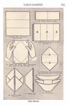 napkin folding instructions | Food History Fashion and Fads - Napkin Folding Pictures from Mrs ...
