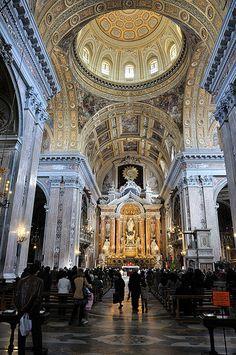 Interior of the Church of Jesus, Napoli