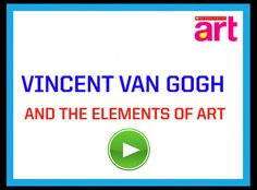 This quick video defines and explains the elements of art visually and verbally using artworks by Van Gogh for examples. Artist Van Gogh, Van Gogh Art, Art Van, School Art Projects, Art School, Classe D'art, Vincent Van Gogh, 6th Grade Art, Art Curriculum