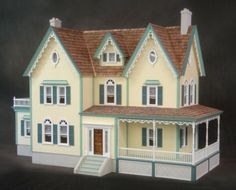 Dollhouse Mansion full set hand made to by Christine Clairmont of christystreasure2823 on ETSY