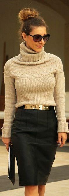 Pencil skirt & knitwear