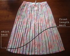 DIY High Low Skirt. I tried this yesterday with some pretty sweet results!