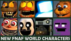 The dynamic duo, Foxy and Bonnie, reunite to check out the new characters that will be arriving in the next FNAF World update and a mysterious new teaser tha. Five Nights At Freddy's, Fnaf, Bowser, Characters, Figurines
